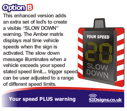 enhanced your speed is sign