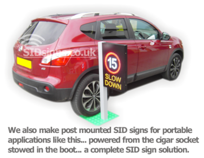 portable post mounted sid signs