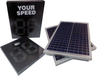 speed sign powered by solar
