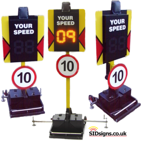 speed sign trolley systems