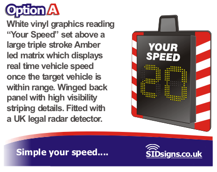 vehicle speed display
