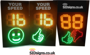 thumbs up thumbs down speed signs